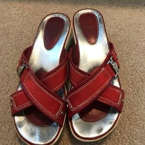 Cole Haan Nike air red and white shoes size 6